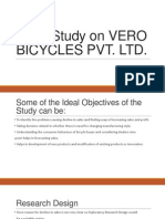 Case Study on Vero Bicycles Pvt