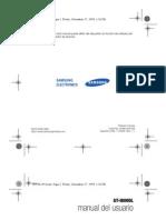 Samsung Omnia II GT-I8000L UM LTN W6.5 Spanish Rev.1.1 091127