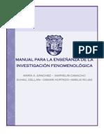 MANUAL DE INVESTIGACIÓN FENOMENOLÓGICA