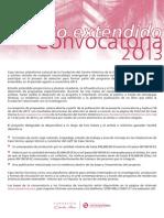 Convo Catori a Residencia 2013