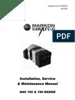 Manual Markon NAC160 NAC190