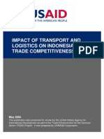 Impact of Transport & Logistics on Indonesia Trade Competitiveness
