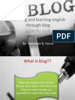 Teaching and Learning Through Blog
