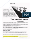 The Value of Value!
