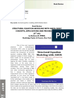 Structural equation modeling Amos Review