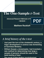 02a One Sample T-Test