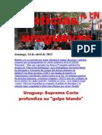 Noticias Uruguayas Domingo 14 de Abril Del 2013