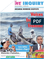 The Malawi - Tanzania Border Dispute, Voices from the frontiers