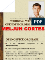 MELJUN CORTES Working with Open Office