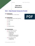 Bab 1 Ilmu Ekonomi - Konsep Dan Masalah