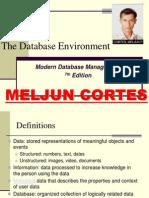 MELJUN CORTES Database Environment