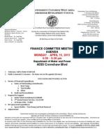 ECWANDC Finance Committee Meeting - April 15, 2013
