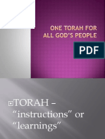One torah for all god's people