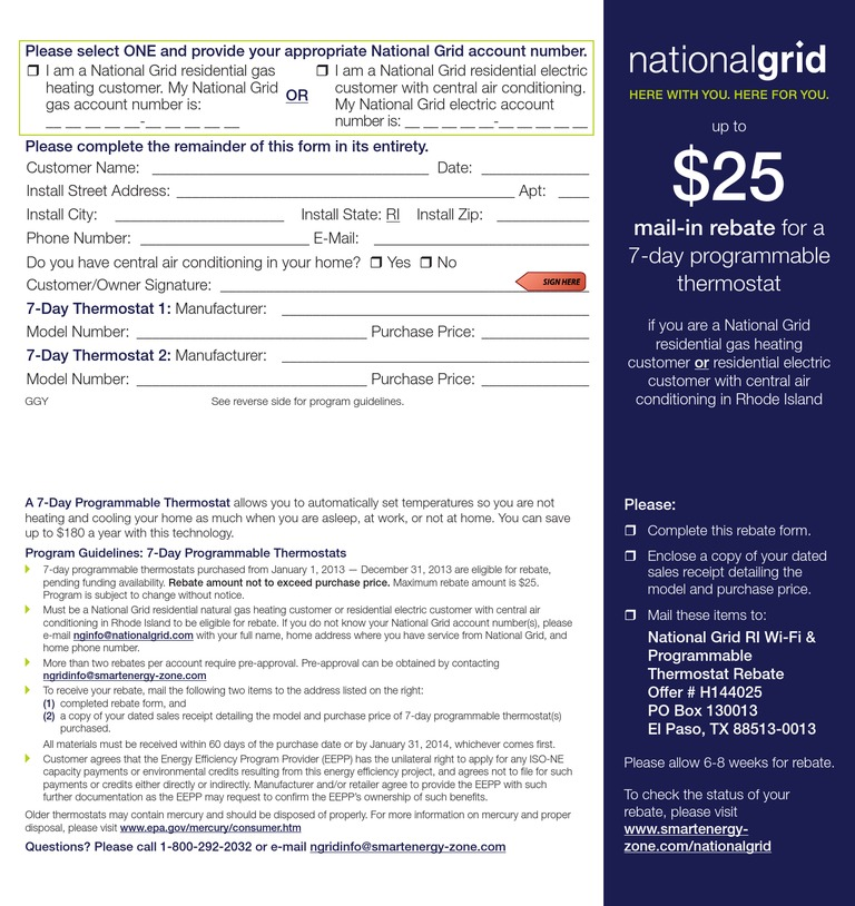 National Grid Rhode Island The Narragansett Electric Co