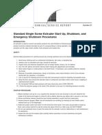 TSR81 Standard Single Screw Extruder Start Up-Shutdown and Emergency Shutdown Procedures