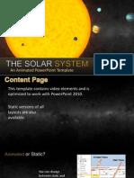 Template - o sistema solar