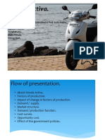 Economics project of Honda Activa.