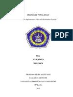 Proposal Penelitian Analisis Implementasi Nilai-Nilai Perbankan Syariah