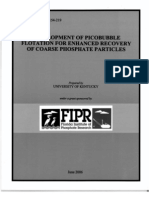 DEVELOPMENT OF PICOBUBBLE FLOTATION FOR ENHANCED RECOVERY OF COARSE PHOSPHATE PARTICLES