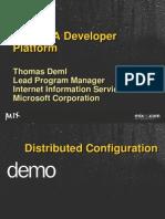 IIS7 As a Developer Platform