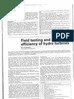 FieldTestingAndOptimisingEfficiencyOfHydroTurbines