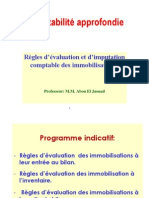 Comptabilité approfondie Evaluation des immobilisations