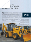 Article on 'Backhoe Loader Industry in India' by Chaitanya Raj Goyal