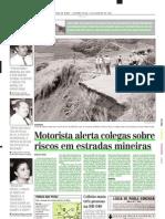 2003.01.20 - Motorista Alerta Colegas Sobre Riscos Em Estradas Mineiras - Estado de Minas
