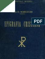 Epigrafia cristiana di Marucci