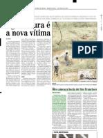 2003.05.07 - Óleo ameaça bacia do São Francisco - Estado de Minas