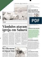 2003.06.08 - CAMINHÃO BATE EM VAN E DEIXA MORTO - Estado de Minas