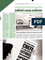 2003.06.29 - Operação policial causa acidente - Estado de Minas