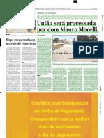 2003.10.22 - União será processada por dom Mauro Morelli - Estado de Minas