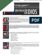 1-Una Relación con Dios - Discipulado OnLine - Iglesia Cristiana Centro Mundial de Avivamiento - Pastores Ricardo y Ma
