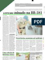 2003.11.14 - Trecho Minado Na BR-381 - Estado de Minas