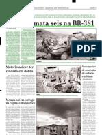 2003.11.18 - Acidente Mata Seis Na BR-381 - Estado de Minas