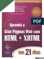 Aprenda a Criar Pu00e1ginas Em Web Com HTML e XHTML Em 21 Dias