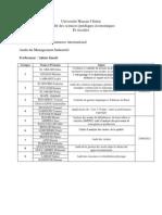 Les Exposes de l'Audit Management Industriel