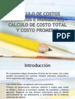 Calculo de Costos Directos e Indirectos, Calculo