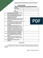 Application for Change of Managing Director - Managing Partner - Director - Partners