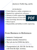 Lec 1 Introduction traffic