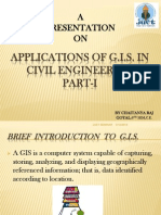 "Seminar Presentation on ""Applications of GIS in Civil Engineering"