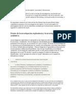 Diseño de la investigación descriptiva