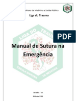 MANUAL DE SUTURAS NA EMERGÊNCIA - LIGA DO TRAUMA