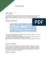 Cara Menggunakan Microsoft Word 2007
