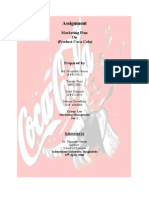 Marketing Plan of COCA COLA (MKT-302)