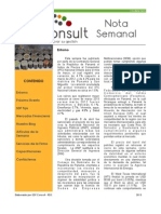 Nota Semanal 13-04-13