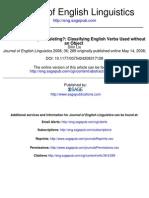 Classifying English Verbs