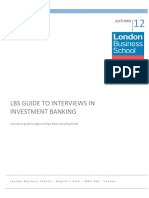 Interview Guide - Investment Banking 2012 4 | Investment Banking