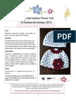 Simply Springtime Flower Hat